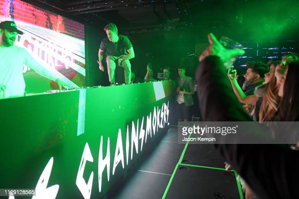 Alex Pall and Andrew Taggart of The Chainsmokers perform during Dream Nashville's Grand Opening at Dream Hotel on March 7 2019 in Nashville Tennessee
