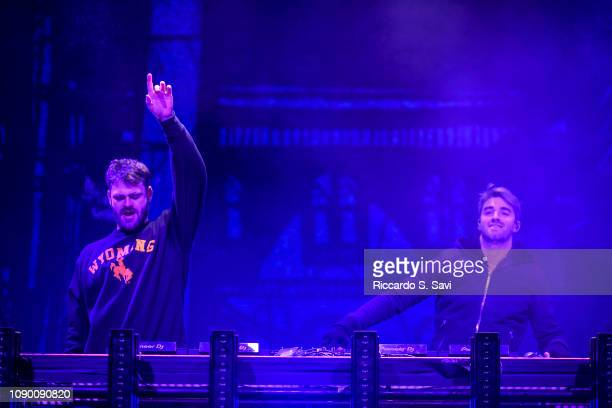Alex Pall and Andrew Taggart of The Chainsmokers perform during X Games Aspen 2019 on January 26 2019 in Aspen Colorado