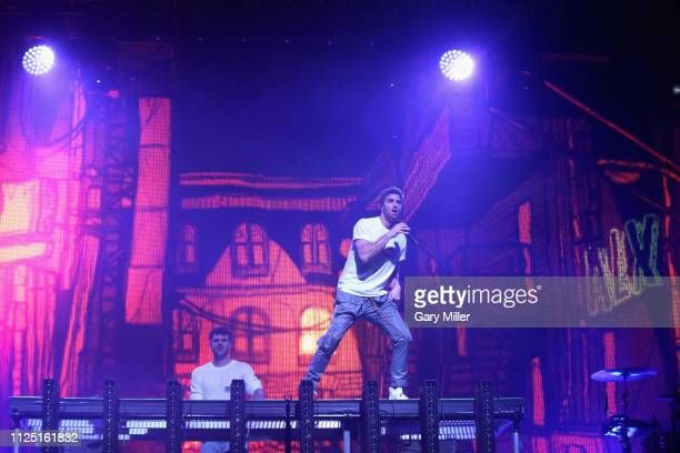 Alex Pall and Andrew Taggart of The Chainsmokers perform in concert during the sold out inaugural KAABOO Cayman Festival at Seven Mile Beach on...