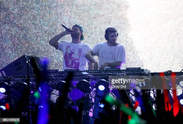 Alex Pall and Andrew Taggart of The Chainsmokers perform live exclusively for American Airlines AAdvantage Mastercard cardmembers at The Fillmore...