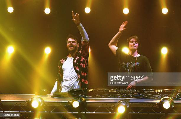 Alex Pall and Andrew Taggart of The Chainsmokers perform on stage at The Roundhouse on February 24 in London United Kingdom