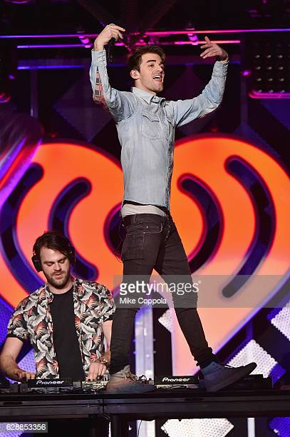 Alex Pall and Andrew Taggart of The Chainsmokers perform onstage during Z100's Jingle Ball 2016 at Madison Square Garden on December 9 2016 in New...