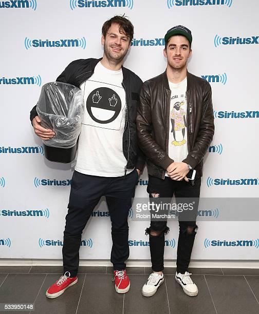 Alex Pall and Andrew Taggart of The Chainsmokers visit at SiriusXM Studios on May 24 2016 in New York City