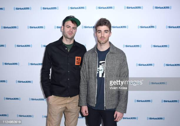 Alex Pall and Andrew Taggart of The Chainsmokers Visit 'Hits 1 In Hollywood' On SiriusXM Hits 1 Channel At The SiriusXM Studios In Los Angeles at...