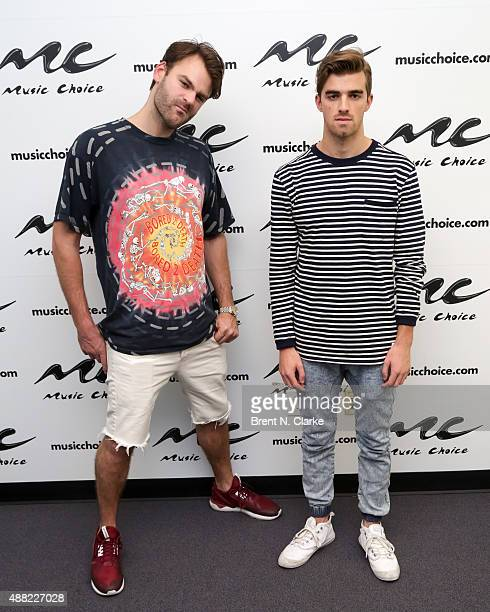 Alex Pall and Andrew Taggart of The Chainsmokers visit Music Choice on September 14 2015 in New York City