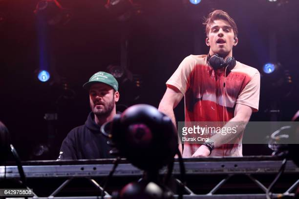 Alex Pall and Drew Taggart of The Chainsmokers perform at The Roundhouse on February 19 2017 in London United Kingdom