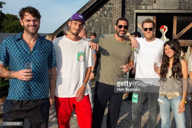 Alex Pall, Elliott Tebele, Maurice Tebele, Adam Alpert and Guest attend the Hamptons Magazine x The Chainsmokers VIP Dinner at The Barn at Nova's Ark...
