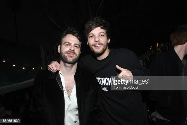 Alex Pall of The Chainsmokers and Louis Tomlinson of One Direction attend The Chainsmokers Pre Grammy Turn Up at the Private Residence of Jonas...