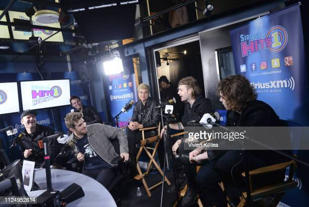 Alex Pall of The Chainsmokers Ashton Irwin of 5 Seconds of Summer Andrew Taggart of The Chainsmokers and Calum Hood Michael Clifford and Luke...