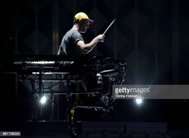 Alex Pall of The Chainsmokers performs at 1061 KISS FM's iHeartRadio Jingle Ball 2017 at American Airlines Center on November 28 2017 in Dallas Texas