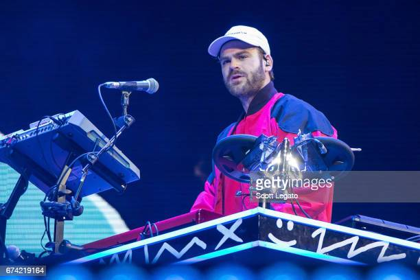 Alex Pall of The Chainsmokers performs at Joe Louis Arena on April 27 2017 in Detroit Michigan