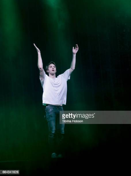 Alex Pall of The Chainsmokers performs at the NCAA March Madness Music Festival 2017 on April 1 2017 in Margaret T Hance Park in Phoenix Arizona