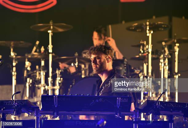 Alex Pall of The Chainsmokers performs live on stage during an exclusive concert for SiriusXM and Pandora as part of Its Super Bowl Week Opening...