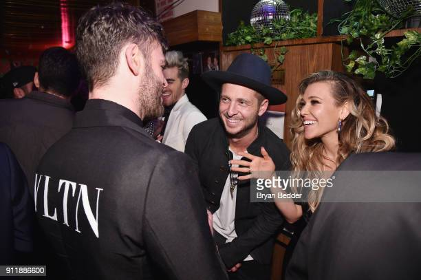 Alex Pall Ryan Tedder and Rachel Platten attend the 60th Annual Grammy Awards after party hosted by Benny Blanco and Diplo with SVEDKA Vodka and...