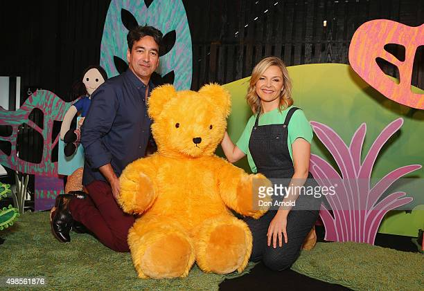 Alex Papps and Justine Clarke pose during the ABC TV 2016 Slate Launch at Doltone House on November 24 2015 in Sydney Australia