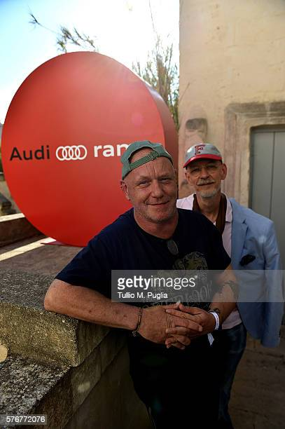 Alex Paterson and Thomas Fehlmann pose during Locus Festival 2016 on July 17 2016 in Locorotondo near Bari Italy