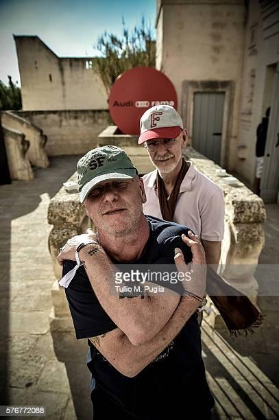 Alex Paterson and Thomas Fehlmann poses during Locus Festival 2016 on July 17 2016 in Locorotondo near Bari Italy