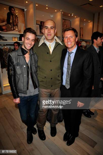 Alex Paul Oliver Helden and Andrew Taylor attend Ann Taylor Flatiron Store Opening at Ann Taylor NYC on December 2 2010 in New York City