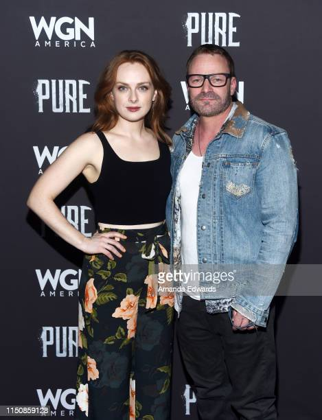 Alex PaxtonBeesley and Ryan Robbins arrive at WGN America's Pure Season 2 Premiere on May 21 2019 in West Hollywood California