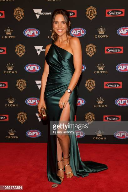 Alex Pendlebury arrive ahead of the 2018 Brownlow Medal at Crown Entertainment Complex on September 24 2018 in Melbourne Australia