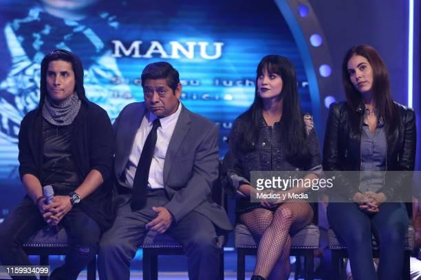 Alex Perea Fermin Martinez Ligia Uriarte and Jackie Sauza during 'Sin Miedo a la Verdad' Presents Season 2 at Televisa San Angel on July 3 2019 in...