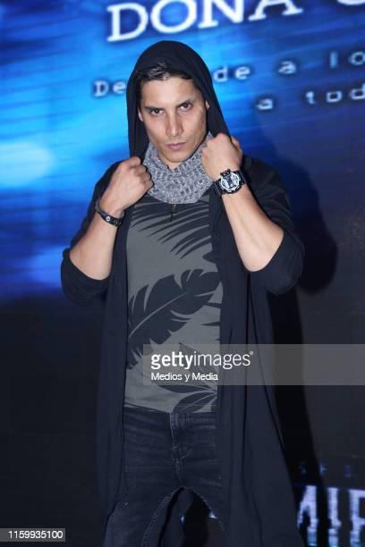 Alex Perea poses for photos during 'Sin Miedo a la Verdad' Presents Season 2 at Televisa San Angel on July 3, 2019 in Mexico City, Mexico.