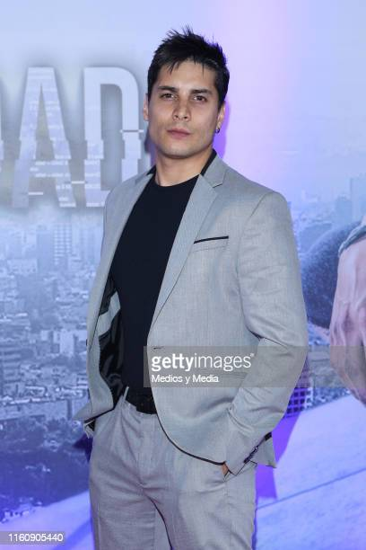 Alex Perea poses for photos during 'Sin Miedo a la Verdad' Red Carpet at Televisa San Angel on July 8, 2019 in Mexico City, Mexico.