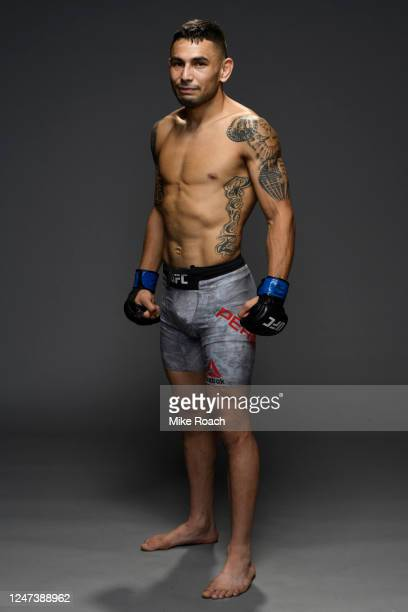 Alex Perez poses for a portrait backstage during the UFC 250 event at UFC APEX on June 06, 2020 in Las Vegas, Nevada.