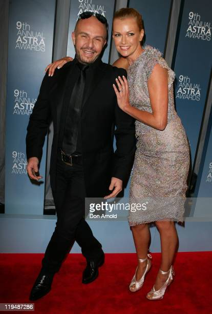 Alex Perry and Sarah Murdoch arrive at the 9th Annual Astra Awards on July 21 2011 in Sydney Australia