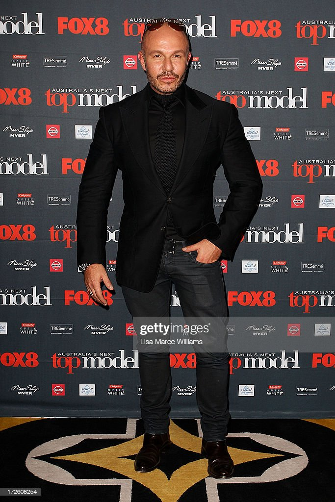 Alex Perry arrives at the launch of Australia's Next Top Model Season 8 at Doltone House on July 4, 2013 in Sydney, Australia.
