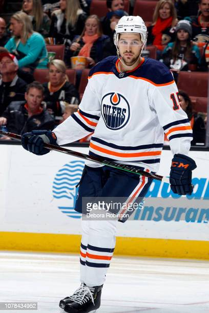 Alex Petrovic of the Edmonton Oilers skates during the game against the Anaheim Ducks on January 6 2018 at Honda Center in Anaheim California