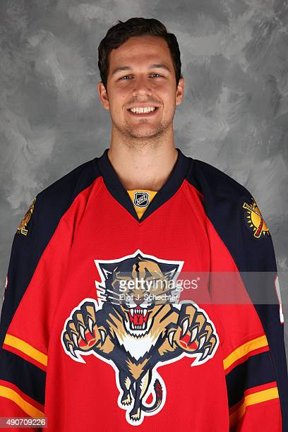 Alex Petrovic of the Florida Panthers poses for his official headshot for the 20152016 season on September 17 2015 at the BBT Center in Sunrise...
