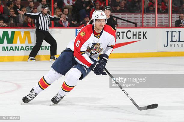Alex Petrovic of the Florida Panthers skates against the Ottawa Senators at Canadian Tire Centre on January 7 2016 in Ottawa Ontario Canada