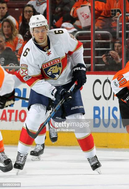 Alex Petrovic of the Florida Panthers skates against the Philadelphia Flyers on March 2 2017 at the Wells Fargo Center in Philadelphia Pennsylvania