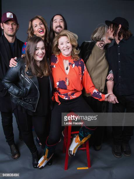 Alex Pettyfer Amy Kaufman Alysia Reiner Steve Aoki Ondi Timoner Sheila Nevins and Norman Reedus pose for a portrait during the Jury Welcome Lunch...