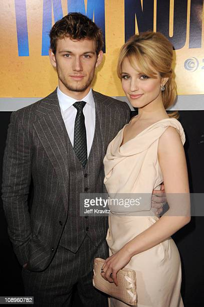 Alex Pettyfer and Dianna Agron attends the Los Angeles premiere of 'I Am Number Four' at Mann's Village Theatre on February 9 2011 in Westwood...