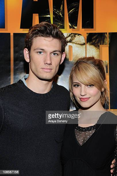 Alex Pettyfer and Dianna Agron stars of the suspense thriller I AM NUMBER FOUR make an appearance at Hot Topic in San Francisco to sign autographs...