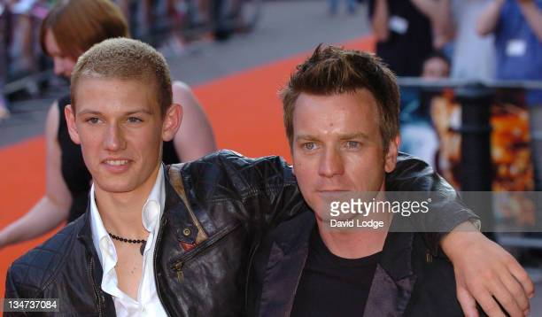 Alex Pettyfer and Ewan McGregor during 'Stormbreaker' London Premiere at Vue West End in London Great Britain