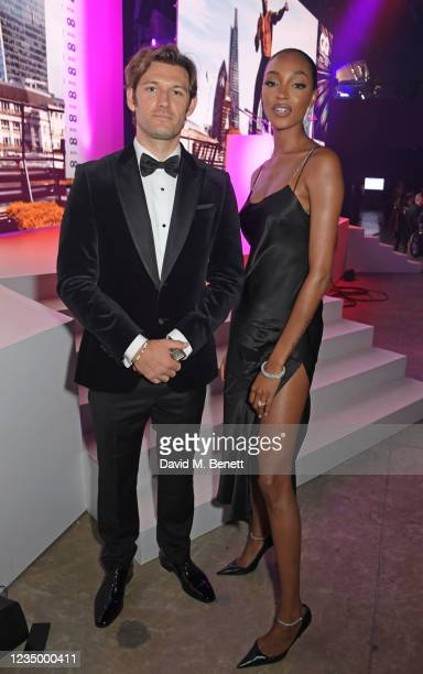 Alex Pettyfer and Jourdan Dunn attend the 24th GQ Men of the Year Awards in association with BOSS at Tate Modern on September 1, 2021 in London,...