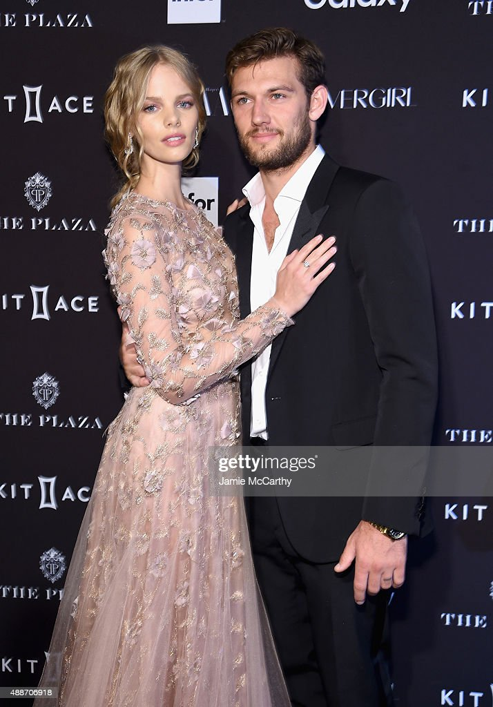 Alex Pettyfer and Marloes Horst attends the 2015 Harper's BAZAAR ICONS Event at The Plaza Hotel on September 16, 2015 in New York City.