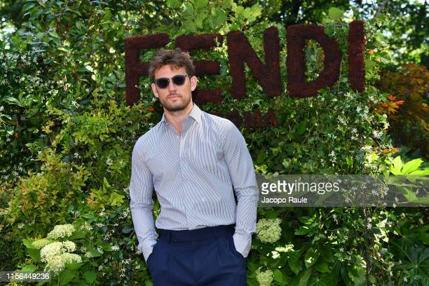 Alex Pettyfer attends the Fendi fashion show during the Milan Men's Fashion Week Spring/Summer 2020 on June 17 2019 in Milan Italy