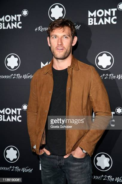 Alex Pettyfer attends the To Berlin and Beyond with Montblanc Reconnect To The World launch event at Metropol Theater on April 24 2019 in Berlin...