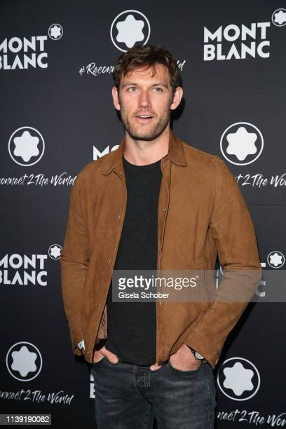 """Alex Pettyfer attends the """"To Berlin and Beyond with Montblanc: Reconnect To The World"""" launch event at Metropol Theater on April 24, 2019 in Berlin,..."""