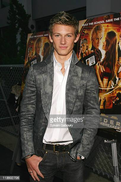 Alex Pettyfer during The Weinstein Company's Premiere of 'Alex Ryder Operation Stormbreaker' Inside Arrivals at The Intrepid Sea Air Space Museum in...