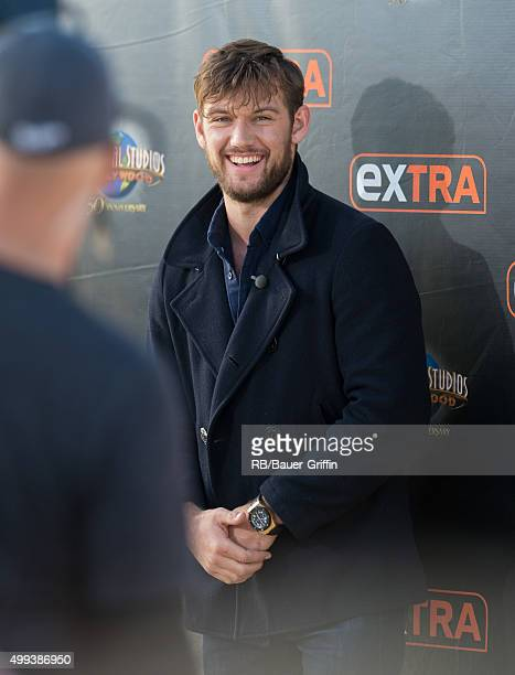 Alex Pettyfer is seen at 'Extra' on November 30 2015 in Los Angeles California