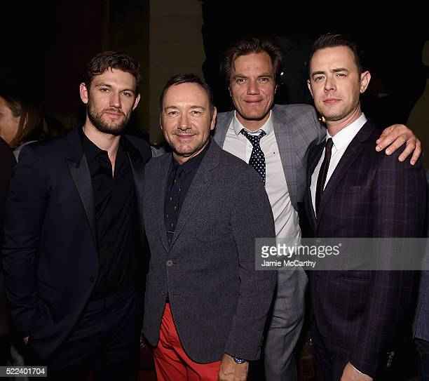Alex Pettyfer Kevin SpaceyMichael Shannon and Colin Hanks attend the 2016 Tribeca Film Festival After Party For Elvis Nixon Sponsored By Bai...