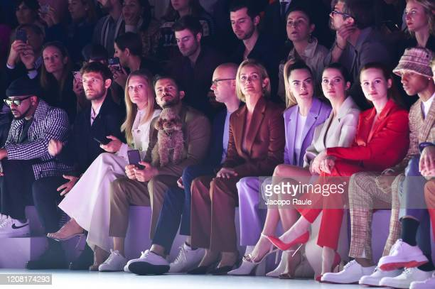 Alex Pettyfer Toni Garrn Orlando Bloom with his dog Mighty Mark Langer Amber Valletta Cara Delevingne Ashley Benson Madelaine Petsch Keith Powers...