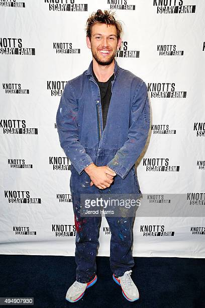 Alex Pettyfer visits Knott's Scary Farm at Knott's Berry Farm on October 29 2015 in Buena Park California