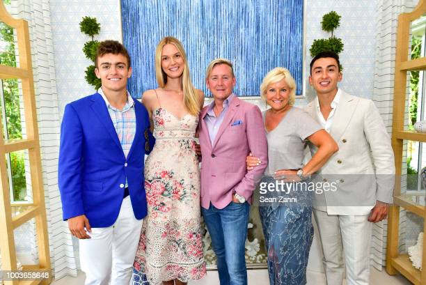 Alex Phillips Hannah Berbos Barclay Butera Christine Phillips and Adrian Ruiz attend the 2018 Hampton Designer Showhouse Gala Preview Party at a...
