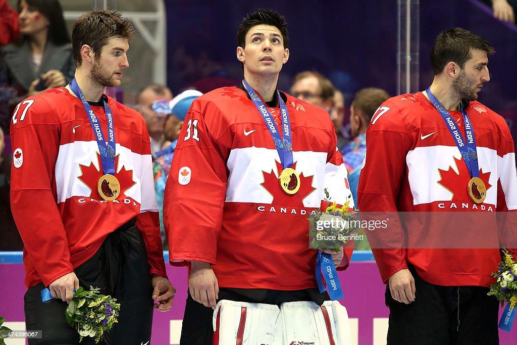 Alex Pietrangelo Carey Price And Patrice Bergeron Of Canada News Photo Getty Images